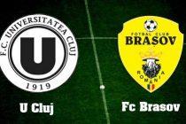 U Cluj – FC Brasov 2-0 (2-0) in etapa a 16-a a Ligii 1