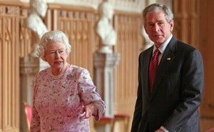 George W. Bush, test de inteligenta cu Regina Marii Britanii – BANCUL ZILEI