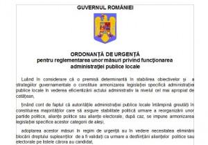Ordonanta privind migrarea primarilor si consilierilor la alte partide – Continut OUG