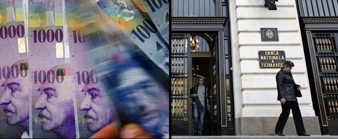 Francul elvetian a sarit de 4,5 lei. BNR: Unele banci ar putea intra in faliment daca vom impune conversia creditelor