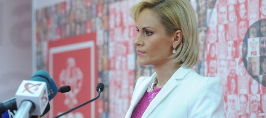 Noul presedinte al PSD Bucuresti este Gabriela Firea. Primarul Capitalei nu l-a iertat pe Liviu Dragnea