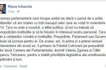 Klaus Iohannis, pe Facebook: Noua sesiune parlamentara ne ofera sansa de a arata ca am inteles mesajul celor care au votat in noiembrie 2014