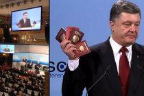 UCRAINA. Porosenko a prezentat pasapoartele unor militari rusi care lupta in Ucraina