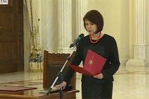 Maya Teodoroiu, noul judecator al Curtii Constitutionale, a depus juramantul la Cotroceni. VIDEO