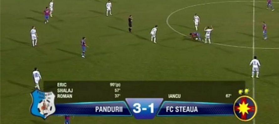 Pandurii Tg.Jiu-Steaua 3-1 (1-0). Un nou esec al campionilor in returul Ligii 1