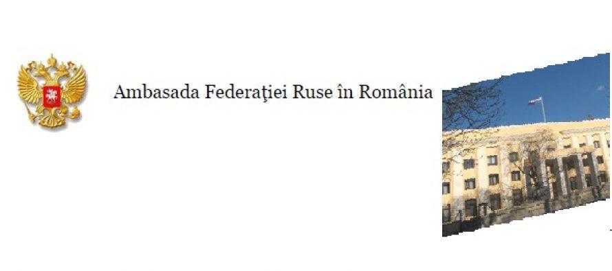 Ambasada Rusiei in Romania: Publicatiile centrale nu trebuie sa dea cuvantul la orice badaran – Comunicat