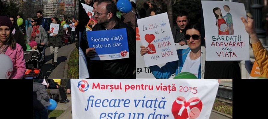 Marsul Pentru Viata a reunit mii de oameni in Romania si Republica Moldova. Galerie FOTO