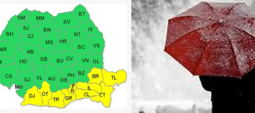 VREMEA IN WEEKEND: ANM a emis o noua atentionare meteo de ninsori si vant