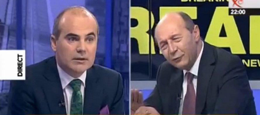 Basescu, in razboi cu Rares Bogdan. Fostul presedinte a facut unele dezvaluiri despre emisiunea de la Realitatea TV