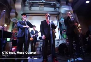 CTC vs Muse Quartet & Silviu Pasca Band – Negru. Ce se intampla cand rap-ul se combina cu muzica clasica. VIDEO