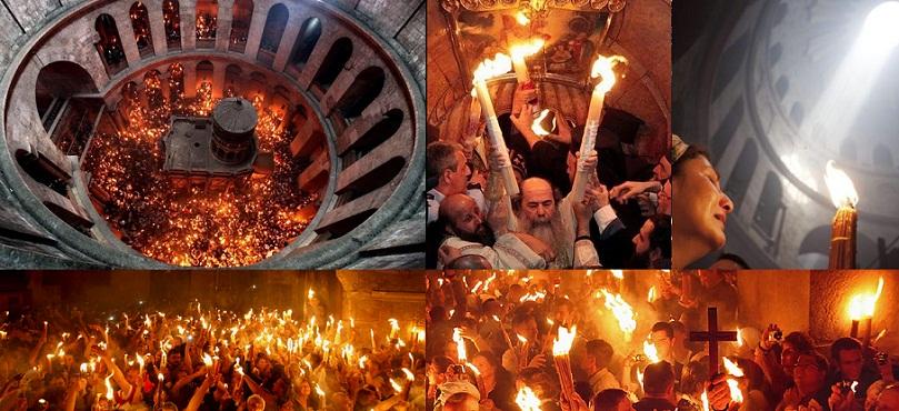 Lumina Sfanta de la Ierusalim, intre adevar si controversa. Minunea de la Mormantul Sfant este fosfor alb?