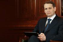 Serghei Nariskin, presedintele Dumei de Stat, vine in Romania