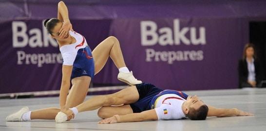 BAKU 2015: Romania a castigat medalia de argint la gimnastica aerobica