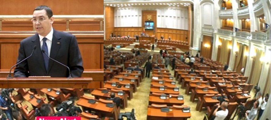 Motiunea de cenzura a PNL a fost respinsa, Guvernul Ponta ramane in picioare. UPDATE