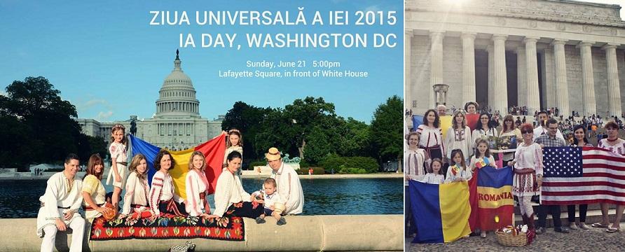 Ziua Universala a Iei, sarbatorita la Washington in fata Casei Albe