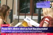 REZULTATE BACALAUREAT 2015 NOTE EDU.RO. PESTE 66% DINTRE ELEVI AU LUAT BAC-UL