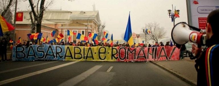 Adunare Nationala la Chisinau pentru unirea Rep. Moldova cu Romania