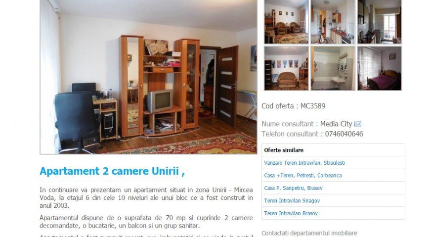 Anunt vanzare apartament in Bucuresti