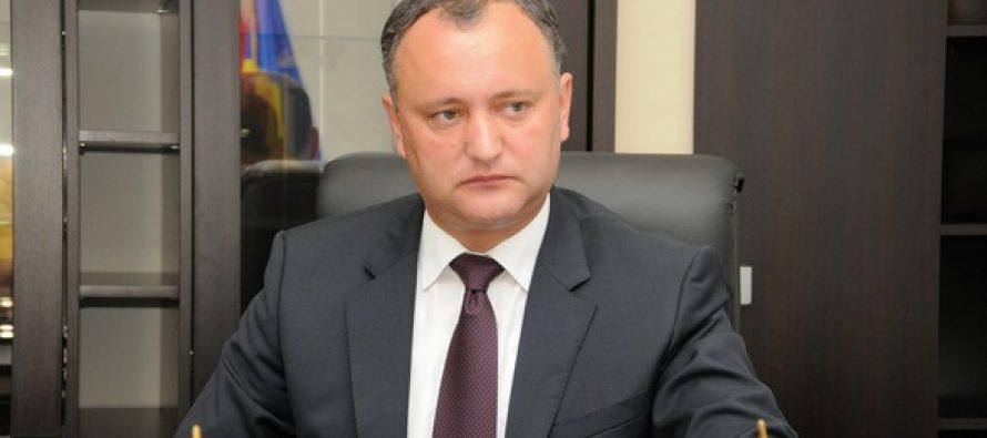 Igor Dodon, intr-un interviu pentru agentia TASS: Relatiile ruso-moldovene necesita o resetare la toate nivelurile