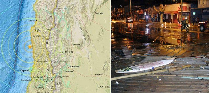 Cutremur in Chile de 8,3 pe Richter. Peste 1 milion de oameni au fost evacuati, s-a emis alerta de tsunami