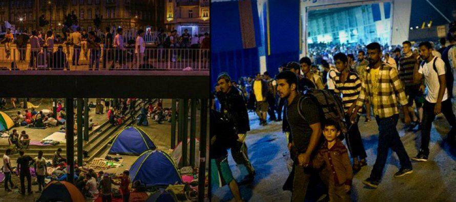 CRIZA REFUGIATILOR: Aproape 8.000 de imigranti traverseaza acum Serbia in drum spre UE. Alti 2.000 de refugiati, interceptati intr-o singura zi in Ungaria