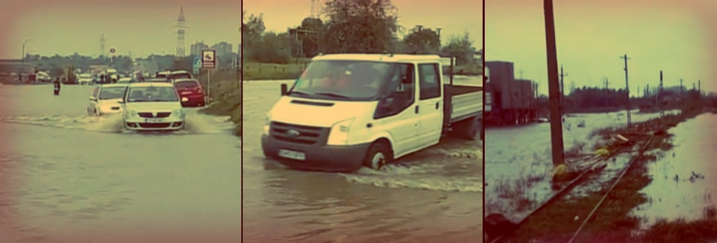 INUNDATII IN ROMANIA. Doi morti in Bacau si Vrancea, Codul rosu de inundatii, in vigoare in mai multe judete