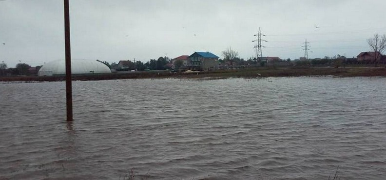 Inundatii la Corbu, judetul Constanta