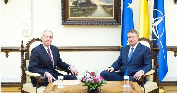 Iohannis s-a intalnit la Cotroceni cu ambasadorul SUA, Hans Klemm