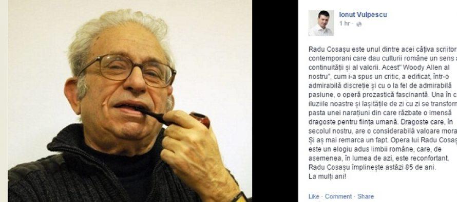 Radu Cosasu, La Multi Ani! Woody Allen al Romaniei a implinit 85 de ani