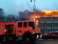 Incendiu la Hotelul Histria din Mamaia. VIDEO