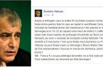 Dumitru Pelican, dupa meciul Norvegia – Romania: Jucam finala mica cu Polonia. Exista si infringeri care te inalta