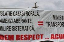 Protest al soferilor in Bucuresti impotriva politelor RCA