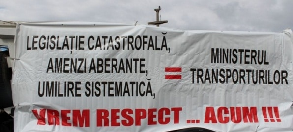 Protestul soferilor in Bucuresti