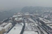 Feerie de iarna la Budapesta. Imagini VIDEO fascinante surprinse din drona