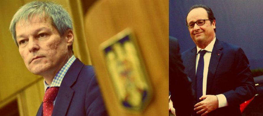 Premierul Dacian Ciolos efectueaza o vizita in Franta, la invitatia presedintelui Hollande