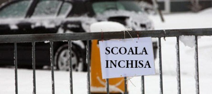 SCOLI INCHISE in 10 judete. Se fac ore pe 20 ianuarie 2016? Scoli inchise in Tulcea, Constanta, Ialomita, Vrancea, Galati si alte 5 judete