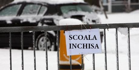 Scoli inchise pe 17 si 18 decembrie din cauza vremii. Autoritatile locale din doua judete au anuntat suspendarea cursurilor