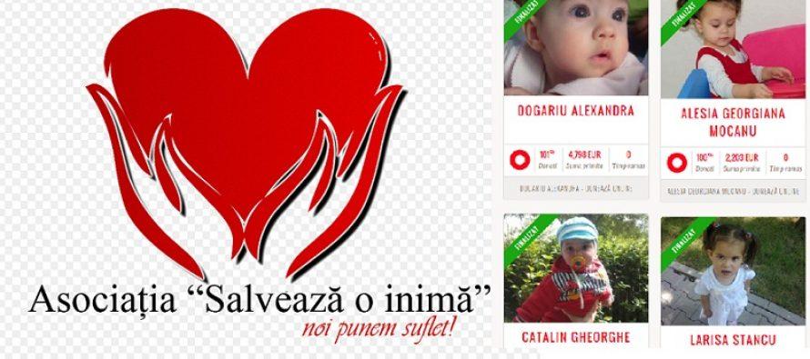 Asociatia Salveaza o Inima a reusit sa salveze sase copii cu malformatii grave