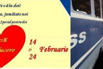 CFR Calatori ofera reduceri de 50% la bilete in Gara de Nord. Calatorii pot face declaratii de dragoste la megafon!