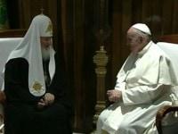 Intrevedere intre Papa Francisc si Patriarhul Kiril al Moscovei. S-a lucrat pana in ultimul moment la declaratia comuna