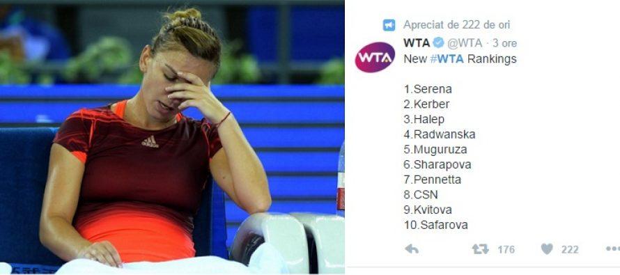 CLASAMENT WTA: Angelique Kerber a trimis-o pe Simona Halep pe locul 3