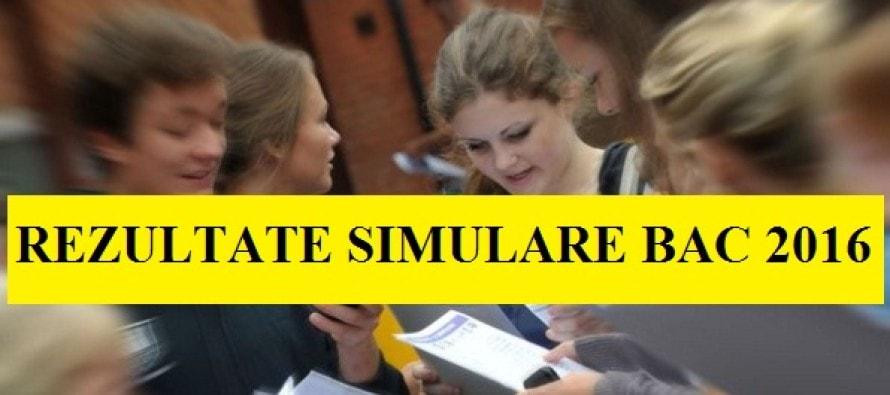 Simulare Image: REZULTATE SIMULARE BACALAUREAT 2016. REZULTATE SIMULARE