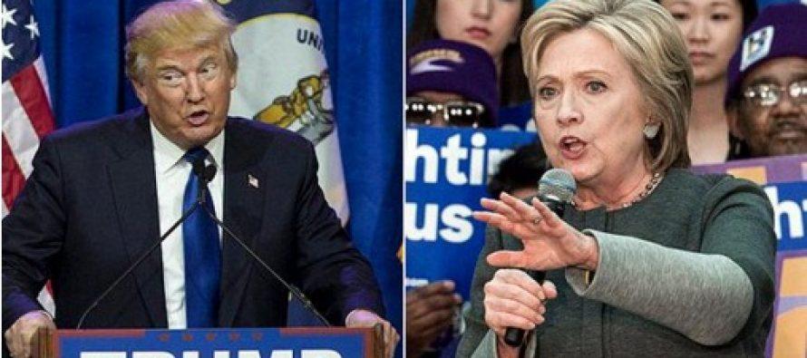 ALEGERI SUA: SuperMarti s-a incheiat cu victoria lui Donald Trump la Republicani si a lui Hillary Clinton la Democrati