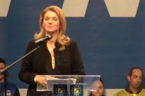 Alina Gorghiu, huiduita la lansarea candidatilor PNL de la Braila pentru discursul arogant. VIDEO