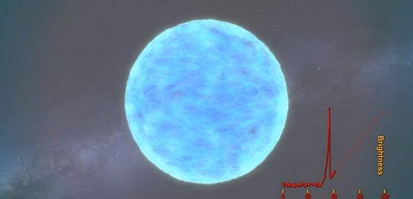 Explozia fascinanta a stelei supergigantice KSN 2011d. VIDEO