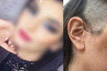 Fiica de 19 ani a unui afacerist din Pitesti, batuta si tunsa de tatal ei. Fata este eleva la Liceul Ion Barbu