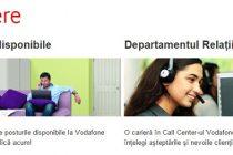Locuri de munca la Vodafone! Se fac angajari la Bucuresti, Cluj, Arad, Timisoara sau Pitesti