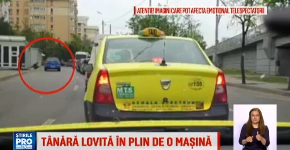 Accident in Iasi. O tanara, lovita in plin de o masina care circula pe contrasens