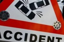Accident pe A1 cu o masina de politie care stationa pe autostrada