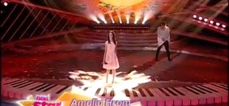 AMALIA HROM, NEXT STAR 7 APRILIE 2016. VIDEO. Piele de gaina pe scena Next Star